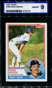 1983 Topps Baseball #498 Wade Boggs Rookie ISA 8 (NM-MT) *0730