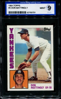 1984 Topps Baseball #8 Don Mattingly Rookie ISA 9 (MINT) *0731