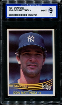 1984 Donruss Baseball #248 Don Mattingly Rookie ISA 9 (MINT) *0737