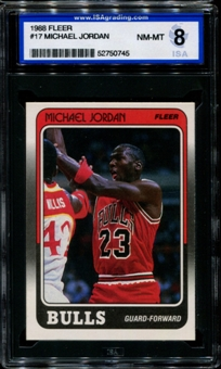 1988/89 Fleer Basketball #17 Michael Jordan ISA 8 (NM-MT) *0745