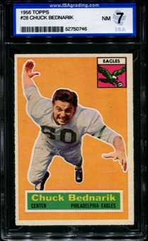 1956 Topps Football #28 Chuck Bednarik ISA 7 (NM) *0746