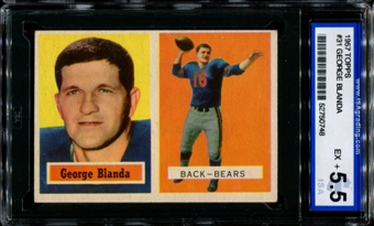 1957 Topps Football #31 George Blanda ISA 5.5 (EX+) *0748