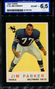 1959 Topps Football #132 Jim Parker ISA 6.5 (EX-MT+) *0750