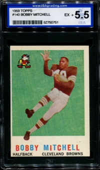 1959 Topps Football #140 Bobby Mitchell Rookie ISA 5.5 (EX+) *0751