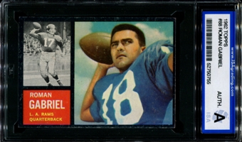 1962 Topps Football #88 Roman Gabriel Rookie ISA A (Authentic) *0755