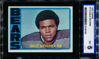 1972 Topps Football #110 Gale Sayers ISA 5 (EX) *0763