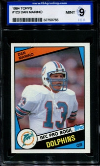 1984 Topps Football #123 Dan Marino Rookie ISA 9 (MINT) *0765