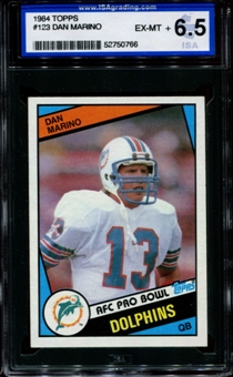1984 Topps Football #123 Dan Marino Rookie ISA 6.5 (EX-MT+) *0766