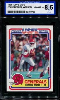 1984 Topps USFL Football #74 Herschel Walker Rookie ISA 8.5 (NM-MT+) *0769