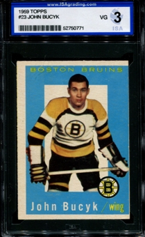 1959/60 Topps Hockey #23 Johnny Bucyk ISA 3 (VG) *0771