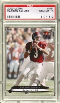 2003 Fleer Ultra #161 Carson Palmer RC Rookie PSA 10 Gem Mint