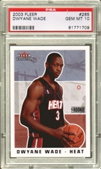 2003/04 Fleer Tradition #265 Dwyane Wade Rookie Card PSA 10 Gem Mint