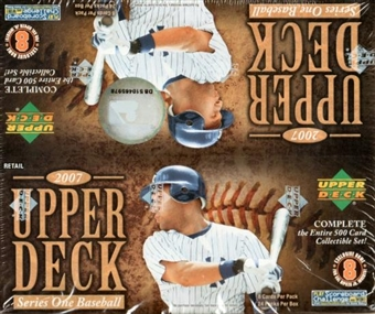 2007 Upper Deck Series 1 Baseball 24-Pack Box