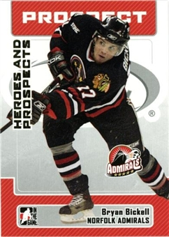 2006/07 ITG Heroes & Prospects Update #157 Bryan Bickell 10 Card Lot