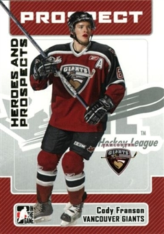 2006/07 ITG Heroes & Prospects Update #197 Cody Franson 10 Card Lot