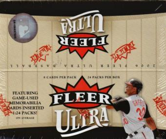 2006 Fleer Ultra Baseball 24 Pack Box