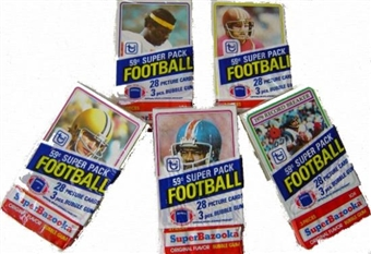 1980 Topps Football Super Cello Box