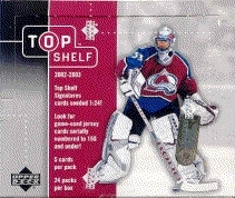 2002/03 Upper Deck Top Shelf Hockey Hobby Box