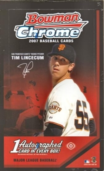 2007 Bowman Chrome Baseball Hobby Box