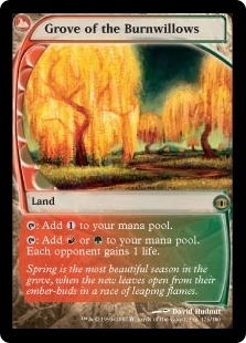 Magic the Gathering Future Sight Single Grove of the Burnwillows Foil