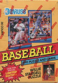 1991 Donruss Series 1 Baseball Canadian Wax Box