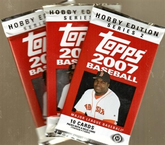 2007 Topps Series 2 Baseball Hobby Pack (Lot of 3)