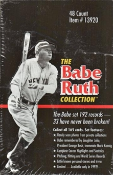 1992 Conlon Collection Babe Ruth Baseball Hobby Box