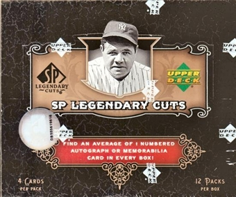 2007 Upper Deck SP Legendary Cuts Baseball Hobby Box