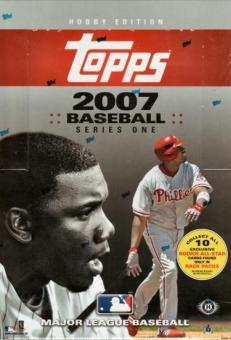 2007 Topps Series 1 Baseball Hobby Rack Box