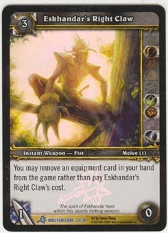 WoW Molten Core Single Eskhandars Right Claw (MOL-21) FOIL LIGHT PLAY