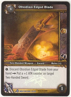 WoW Molten Core Single Obsidian Edged Blade (MOL-24) FOIL