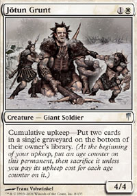 Magic the Gathering Coldsnap Single Jotun Grunt UNPLAYED (NM/MT)