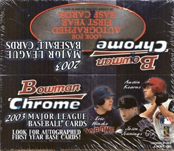 2003 Bowman Chrome Baseball 24 Pack Box