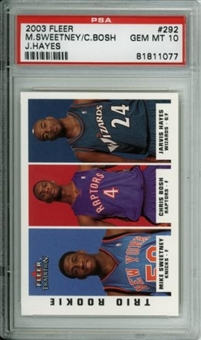 2003/04 Fleer Tradition #294 Mike Sweetney David West Brian Cook RC PSA 10 GEM MT