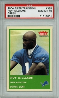 2004 Fleer Tradition Green #335 Roy Williams Rookie PSA 10