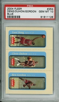 2004/05 Fleer Tradition Blue #254 Deng Duhon Gordon RC PSA 10 Gem Mint