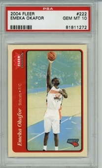 2004/05 Fleer Tradition #222 Emeka Okafor RC PSA 10 Gem Mint