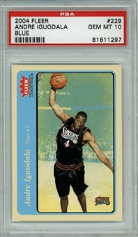 2004/05 Fleer Tradition Blue Andre Iguodala Rookie #229 PSA 10