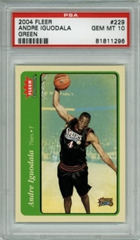 2004/05 Fleer Tradition Green #229 Andre Iguodala RC PSA 10 Gem Mint