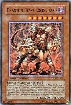 Yu-Gi-Oh Force of the Breaker Single Phantom Beast Rock-Lizard Super Rare