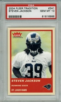 2004 Fleer Tradition #341 Steven Jackson RC PSA 10