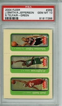 2004/05 Fleer Tradition Green Smith/Jefferson/Telfair #262 PSA 10