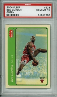 2004/05 Fleer Tradition Green #223 Ben Gordon RC PSA 10 Gem Mint