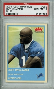 2004 Fleer Tradition Blue #335 Roy Williams Rookie PSA 10