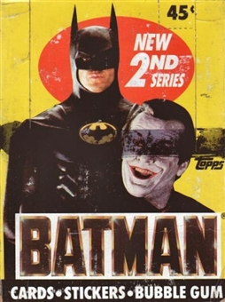 Batman Movie 2nd Series Wax Box (1989 Topps)