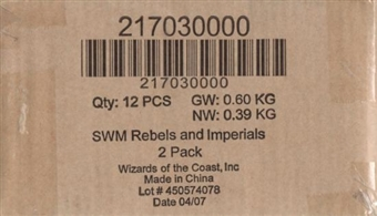 WOTC Star Wars Miniatures Rebels and Imperials Booster Case (12ct)