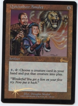 Magic the Gathering Urza's Legacy Single Quicksilver Amulet Foil