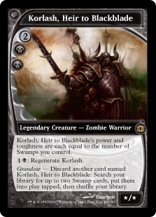 Magic the Gathering Future Sight Single Korlash, Heir to Blackblade - SLIGHT PLAY (SP)