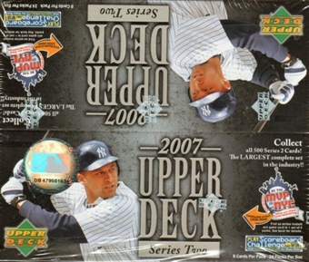 2007 Upper Deck Series 2 Baseball 24 Pack Box