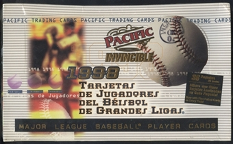 1998 Pacific Invincible Baseball Hobby Box